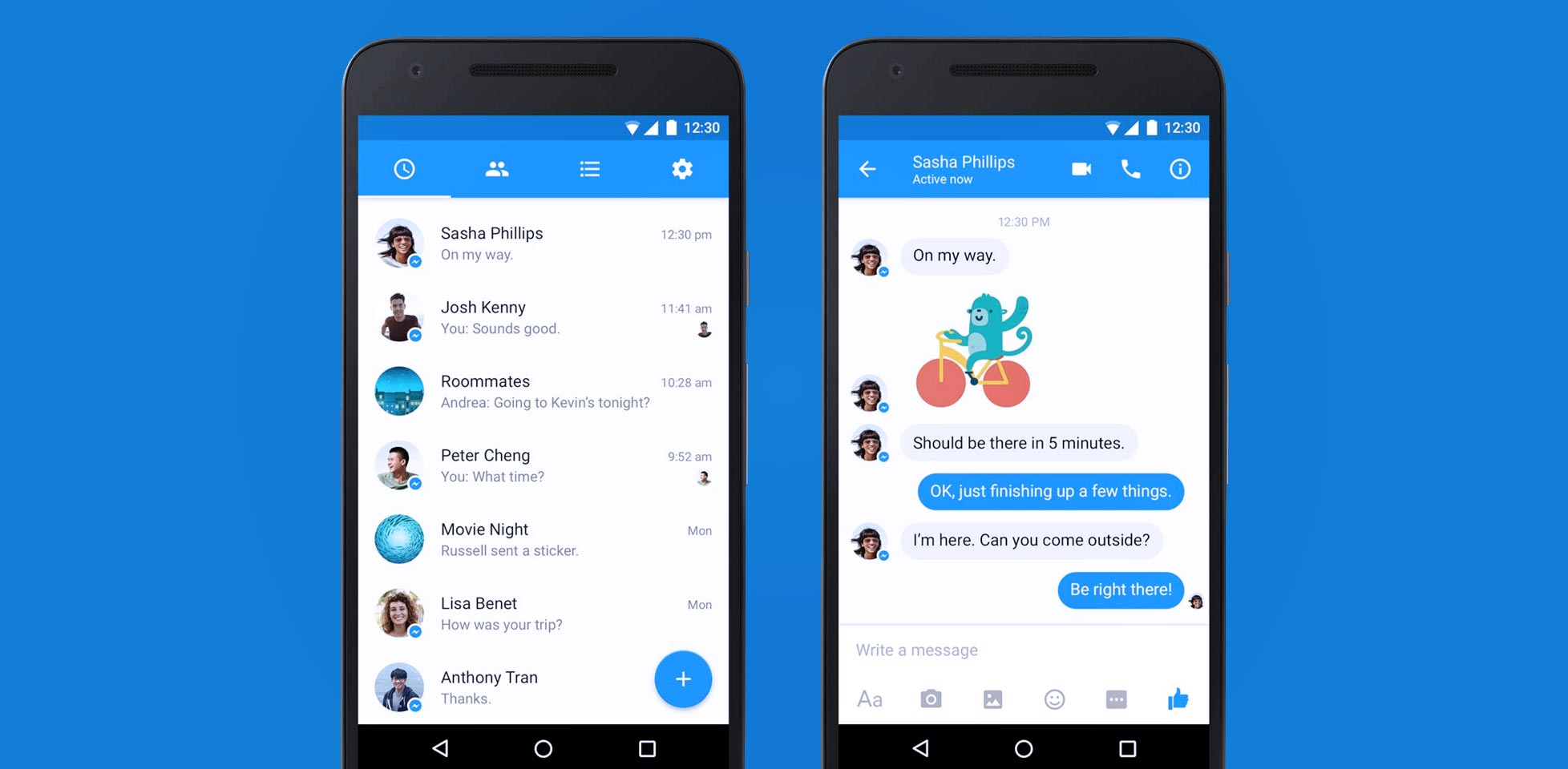 fb messenger material design