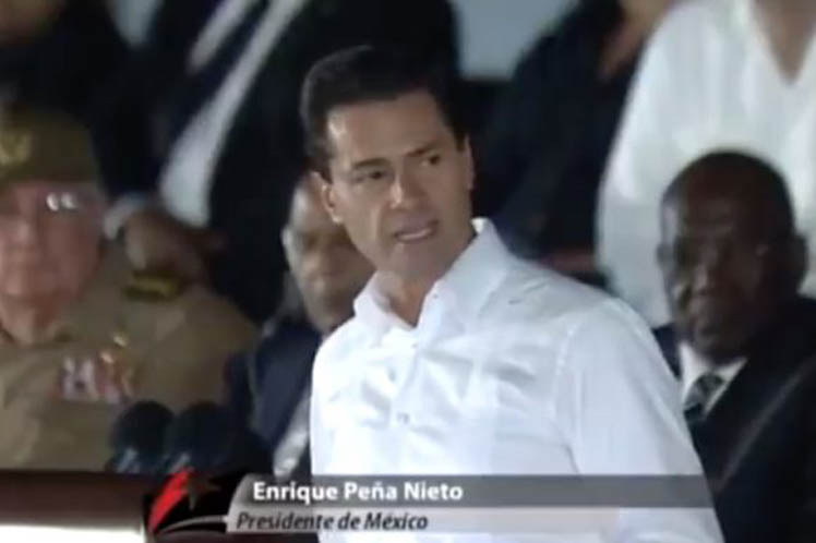 Fidel is one of the emblematic figures of the 20th century, said Mexican President Enrique Peña Nieto today, at a posthumous tribute to the historic leader of the Cuban Revolution at Havana''s Jose Marti Revolution Square.